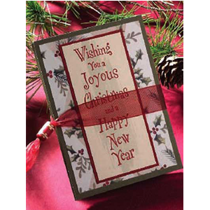 But Its Free - FREE TUTORIAL DOWNLOAD of Wishing You Accordion Greetings Christmas Card