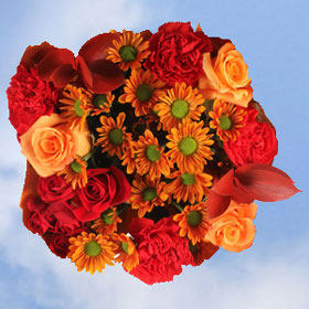 But Its Free - 2 Autumn Straw Hat Bouquets 28 Cheerful Flowers!