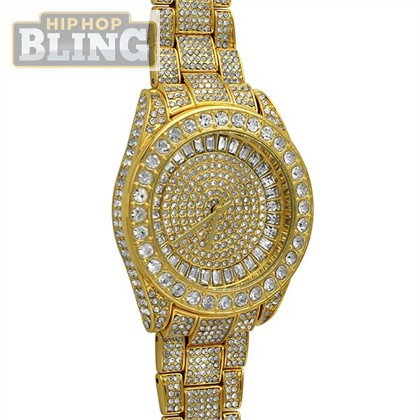 But Its Free - Bling Bling 41MM Gold Fully Custom Watch