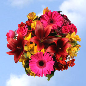 But Its Free - 2 Fall Purple Flower Bouquets 26 Lovely Flowers!