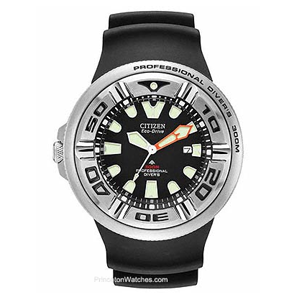 But Its Free - Citizen Eco-Drive 300 Meter Professional Diver - Stainless - Rubber Strap