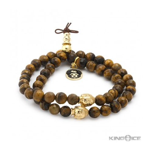 But Its Free - King Ice Tiger Eye Buddha Bead Wrap Bracelet