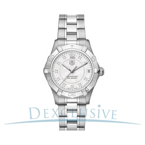 But Its Free - Tag Heuer Women's Aquaracer Diamond Dial Quartz Watch - WAF1312.BA0817