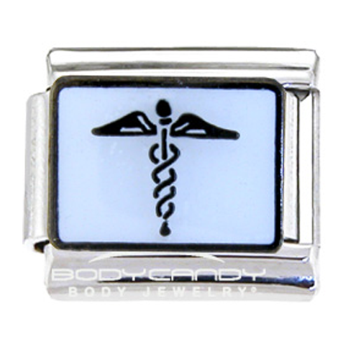 But Its Free - Caduceus Symbol medical Italian Charm