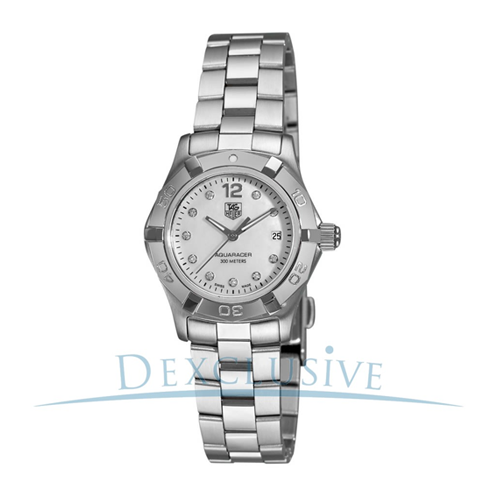 But Its Free - Tag Heuer Women's Aquaracer Diamond Dial Quartz Watch - WAF1415.BA0824