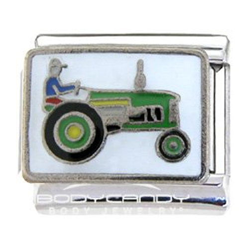 But Its Free - Farmer and Tractor Italian Charm