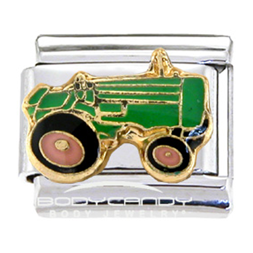 But Its Free - Green Tractor Italian Charm