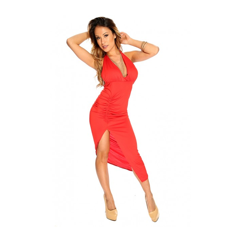 But Its Free - Red Backless Bodycon Sexy Club Wear Party Dress