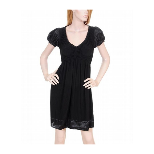 But Its Free - Black Cap Sleeve Party Dress
