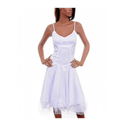 But Its Free - White Criss Cross Party Dress