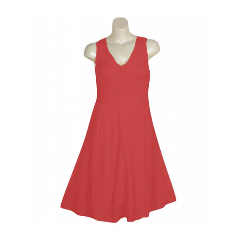 But Its Free - Sleeveless Ruched V-Neck Dress