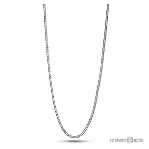 But Its Free - 2mm Platinum Plated Hip Hop Franco Chain