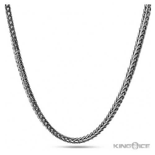 But Its Free - 3mm Men's Platinum Plated Hip Hop Franco Chain