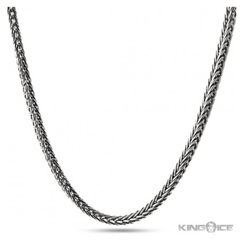 But Its Free - 4mm Men's Platinum Plated Hip Hop Franco Chain