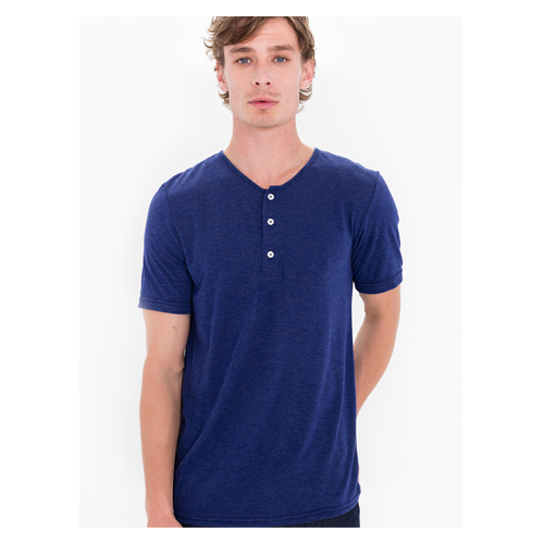 But Its Free - Tri-Blend Short Sleeve Henley Tee