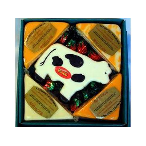 But Its Free - Wisconsin Cheese Cow Gift Box