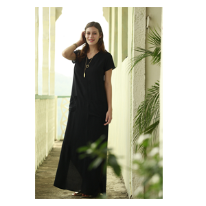 But Its Free - Amazonion Pocket Maxi Dress Black