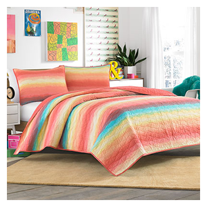 But Its Free - Teen Vogue Electric Beach Coral Quilt Set