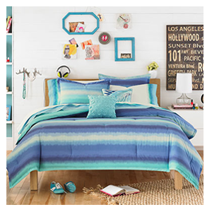 But Its Free - Teen Vogue Electric Beach Blue Comforter Set