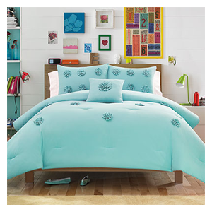 But Its Free - Teen Vogue Monica Textured Blue Aqua Comforter Set