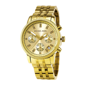 But Its Free - Michael Kors MK5676 Women's Ritz Gold Tone Dial Gold Plated Steel Bracelet Chronograph Watch