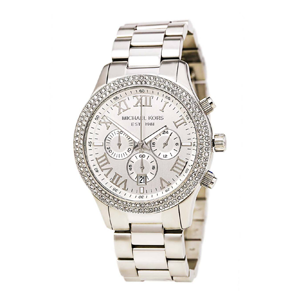 But Its Free - Michael Kors MK5667 Women's Layton Chronograph Silver Dial Steel Bracelet Watch