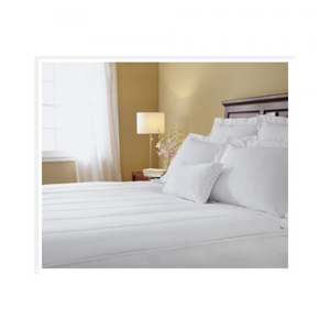 But Its Free - Sunbeam Quilted Heated Electric Mattress Pad Stripe Pattern Cal King Size
