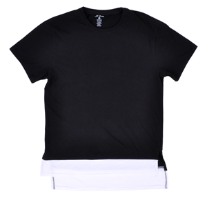 But Its Free - Long Length Elongated Tee Shirt M Society Mens 2016 Layer Top Black White
