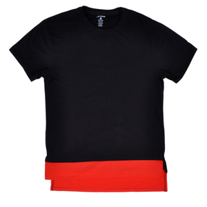 But Its Free - Long Length Elongated Tee Shirt M Society Mens 2016 Layer Black Red Top