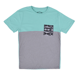 But Its Free - SGR Tee Shirt Pocket Color Block Green Mens Authentic Short Sleeve Top S-XL