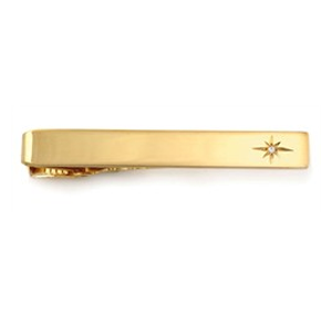 But Its Free - Tie Bars: 14k Yellow Gold Tie Bar w. Diamond.