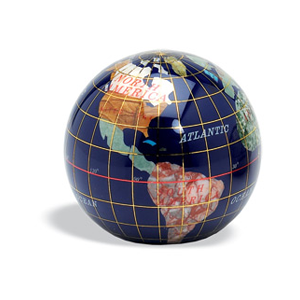 But Its Free - Gemstone Globe paper weight Lapis 3 Inches in Diameter