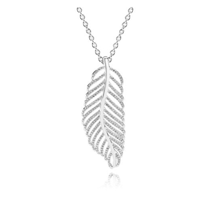 PANDORA Light as a Feather Necklace, Clear Cubic Zirconia