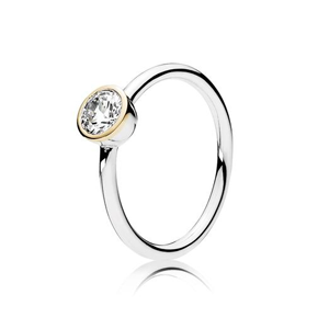 PANDORA Petite Circle Ring, Clear Cubic Zirconia